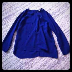 NWT COS petal drape blouse in cobalt blue size 10